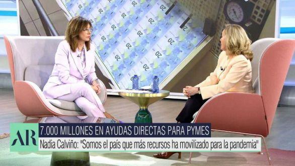 Calviño, sorprendida de la defensa de los empresarios por parte de Podemos