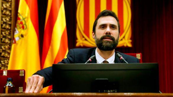 El TSJC admite la querella por desobediencia contra el expresidente del Parlament, Roger Torrent