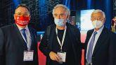 Ferran Adrià con José Luis Yzuel, Presidente de Hostelería de España, y Rafael Ansón en la inauguración de HIP 2021, en IFEMA.