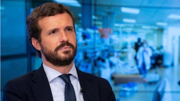 Pablo Casado, en el comité de seguimiento del Covid del PP tras la decisión del Gobierno de decretar el estado de alarma.
