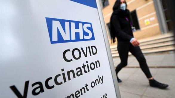Un centro de vacunación en Londres.