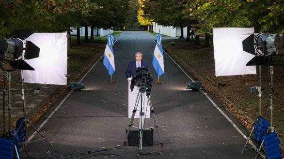 El presidente de Argentina, Alberto Fernández, este miércoles.