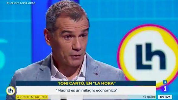 Toni Cantó abronca en directo a TVE por su falta de neutralidad