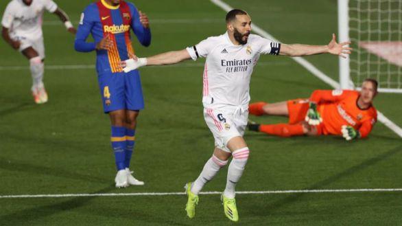 El Real Madrid golpea al Barcelona y se encarama a LaLiga | 2-1