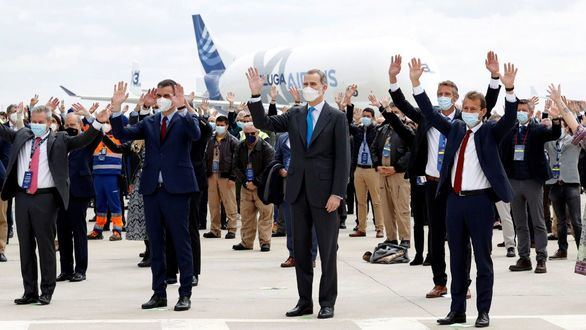 El Rey preside la inauguración del nuevo Campus Futura de Airbus en Getafe