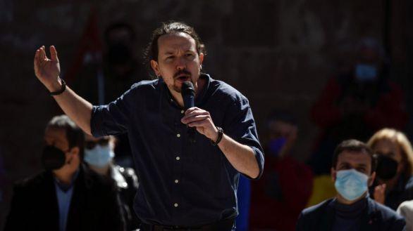 El candidato de Podemos a la Comunidad de Madrid, Pablo Iglesias, este sábado.