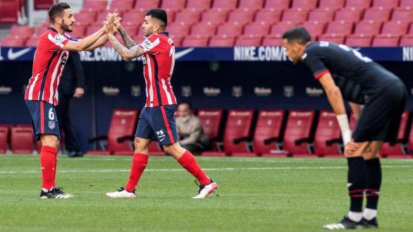 El Atlético responde con contundencia al órdago liguero |5-0