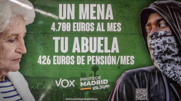 La Fiscalía investiga el cartel electoral de Vox sobre los menas por presunto delito de odio