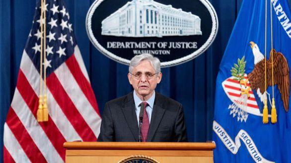 El fiscal general de EEUU, Merrick Garland, este miércoles.