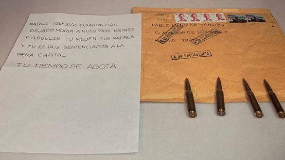 Marlaska, Iglesias y Gámez denuncian haber recibido cartas amenazantes con cartuchos de bala