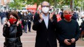 Jorge Javier Vázquez apoya a Gabilondo en un mitin del PSOE