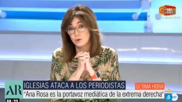 Ana Rosa Quintana contesta a Iglesias: