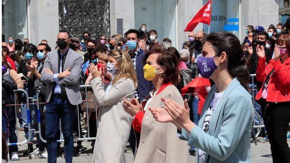 Descarado electoralismo en el 1 de mayo del Gobierno y los candidatos de la izquierda