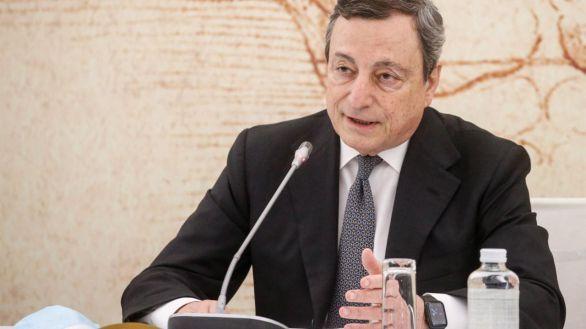El primer ministro italiano, Mario Draghi, en la reunión del G20, este martes.