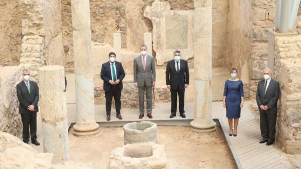 Felipe VI inaugura el Museo Foro Romano Molinete en Cartagena