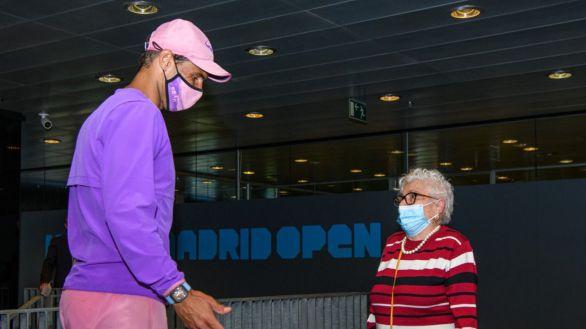 Madrid Open. Nadal pierde pero cumple otro sueño: el de una anciana con Alzheimer