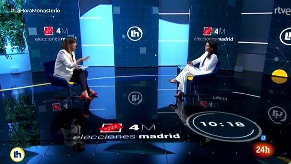 La Junta Electoral admite que Mónica López no fue neutral cuando entrevistó a Rocío Monasterio