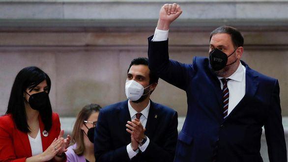 Oriol Junqueras sale de la cárcel para asistir a la investidura de Aragonés
