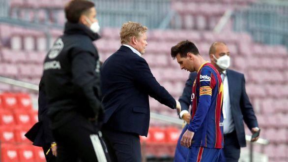 Koeman, arrinconado en Barcelona, se lanza en público contra Messi y compañía