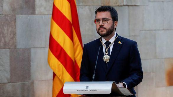 Aragonès toma posesión del cargo de president sin menciones a la Constitución y al Rey