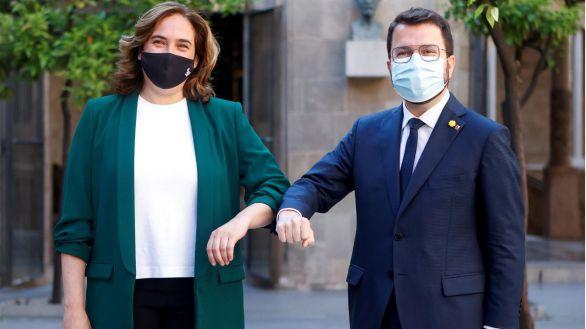 Aragonés y Colau abren nueva etapa de