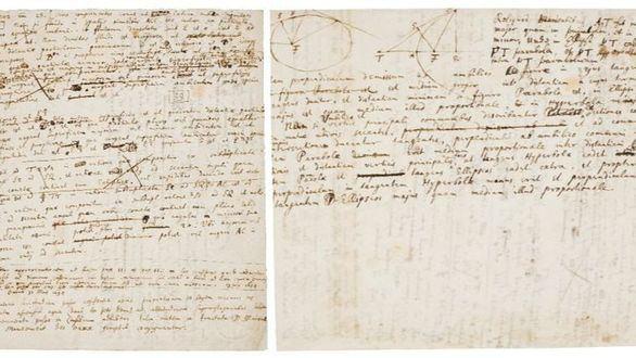 A subasta las anotaciones de Isaac Newton para Principia, la obra que revolucionó la ciencia