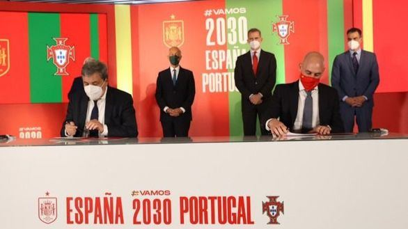 España y Portugal presentan la candidatura para el Mundial de 2030 con el apoyo del Rey Felipe VI