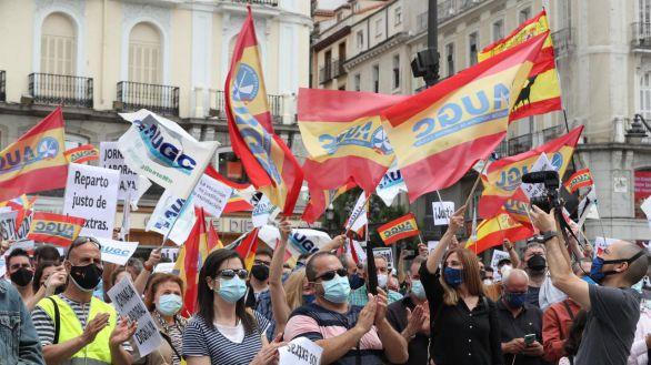 Guardias civiles claman en Madrid contra el retroceso de sus derechos