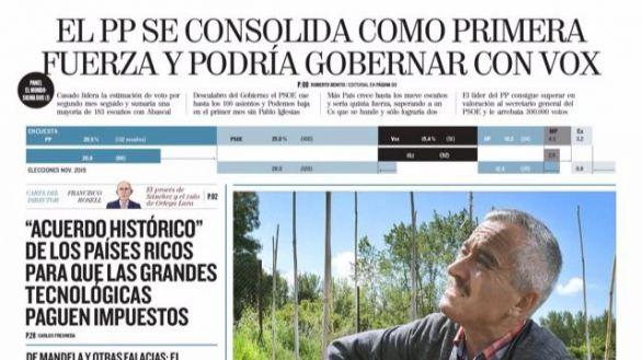 Las portadas de los periódicos
