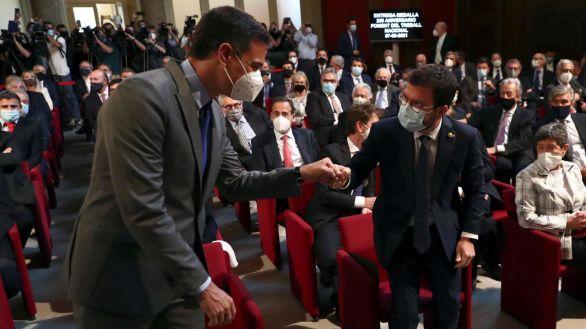 Sánchez y Aragonés escenifican la concordia previa a los indultos