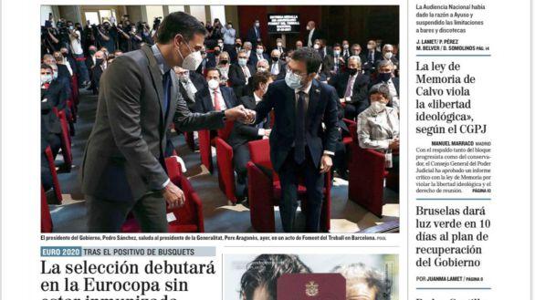 Las portadas de los periódicos de este martes, 8 de junio