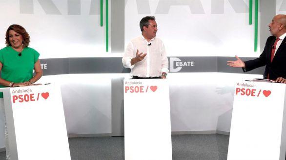 Díaz y Espadas evitan el cuerpo a cuerpo en el debate del PSOE-A