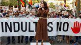 La presidenta de Cs, Inés Arrimadas, participa en la concentración contra los indultos convocada bajo el lema de No en nuestro nombre en Barcelona.