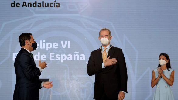 El Rey llama al entendimiento tras recibir la Medalla de Honor de Andalucía