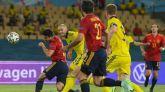 Gerard Moreno tuvo la última oportunidad de gol en el España-Suecia de Eurocopa.