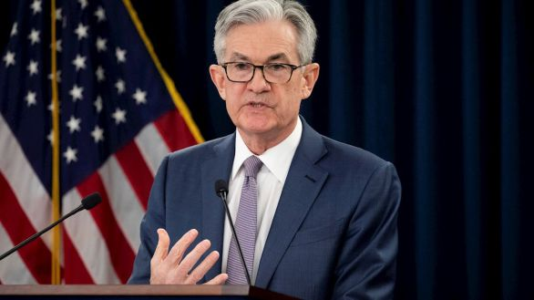 Jerome Powell, presidente de la Fed, este miércoles.