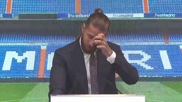 Sergio Ramos se despide del Real Madrid entre lágrimas: