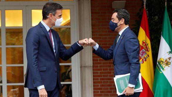 Moreno pide un modelo de financiación a Sánchez, que exige