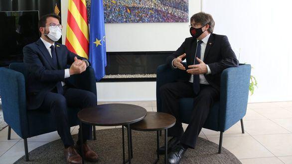 Aragonès y Puigdemont en Waterloo: los indultos