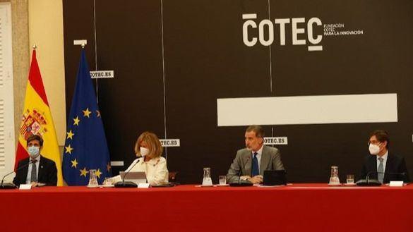 Felipe VI preside la reunión del patronato de la Fundación Cotec