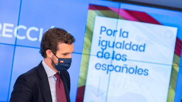 El presidente de los populares, Pablo Casado.