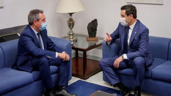 El presidente andaluz Juanma Moreno se reúne con el nuevo líder del PSOE-A, Juan Espadas.