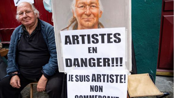 Los pintores de Montmartre, en pie de guerra contra el Ayuntamiento de París