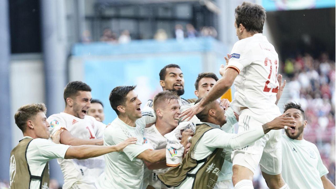 La locura invade la Eurocopa con el triunfo de España sobre Croacia y la eliminación de Francia ante Suiza