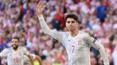 Álvaro Morata marcó el cuarto gol español, durante la prórroga del Croacia-España de Eurocopa.