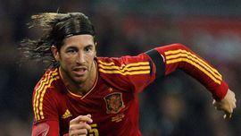 Sergio Ramos asoma antes de las semifinales de España contra Italia
