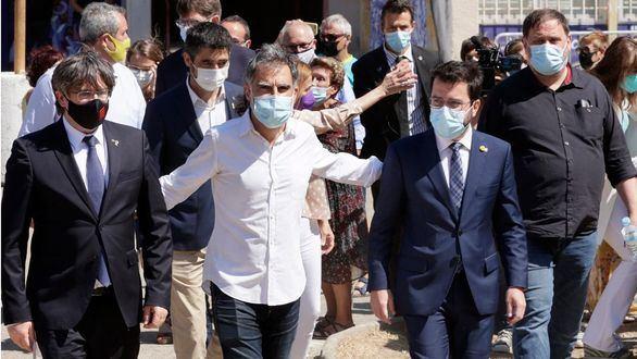 Los líderes separatistas se conjuran en Francia para pedir un referéndum de autodeterminación