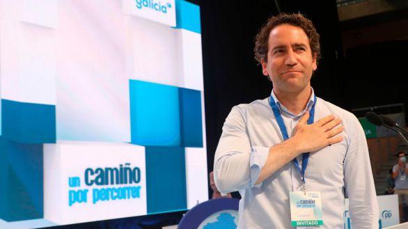 El secretario general del PP, Teodoro García Egea, en Santiago de Compsotela.