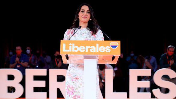 La presidenta de Cs, Inés Arrimadas, este domingo.
