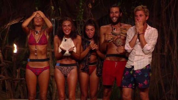 Los cinco finalistas de 'Supervivientes'.